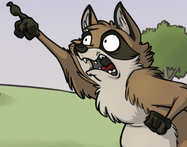 Click image for larger version.  Name:raccoon points outward to the sky in fear terror and disbelief tr50.jpg Views:205 Size:43.2 KB ID:3499