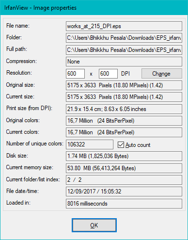 Crash when opening EPS files with high DPI settings
