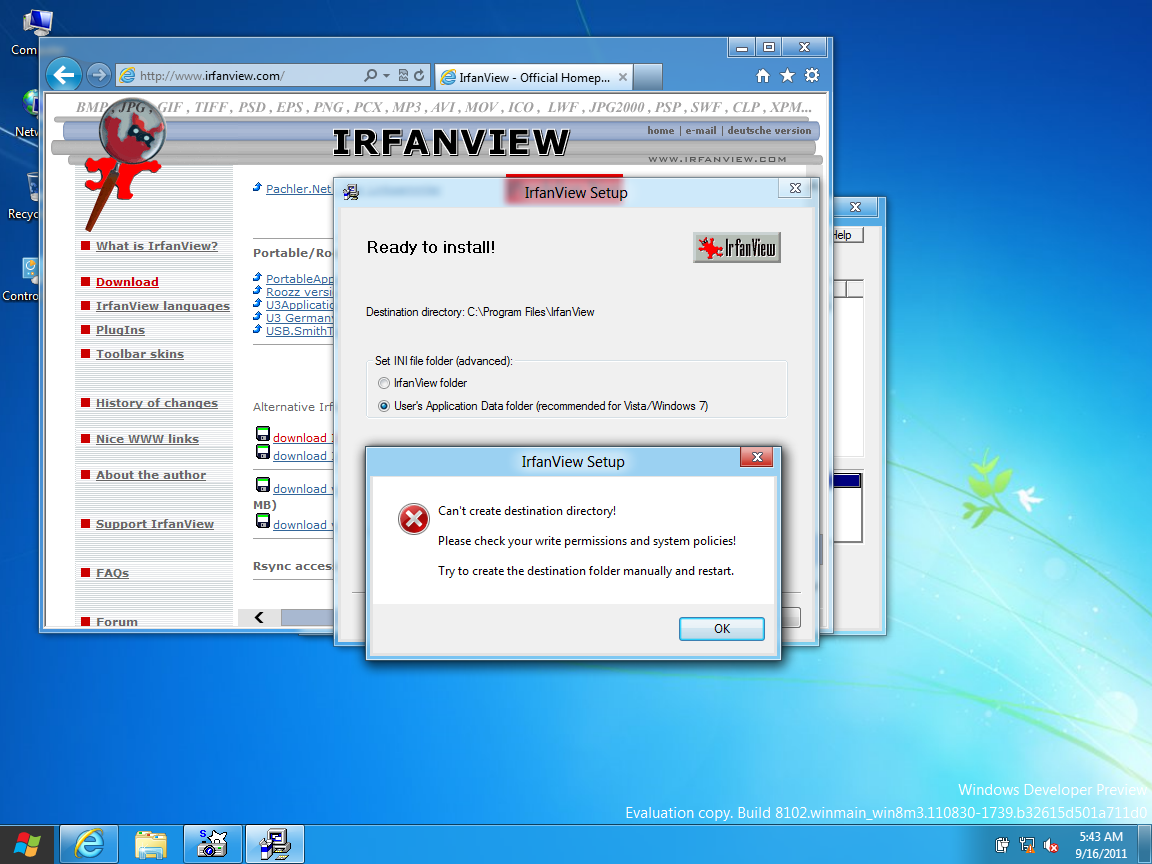 Click image for larger version.  Name:irfanview setup error.png Views:1026 Size:420.1 KB ID:2961